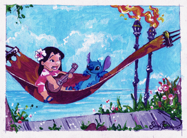 Lilo and Stitch Painting by Curly-Qs