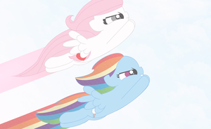FlyingHeart and Rainbow Dash by x-Calming-Melody-x