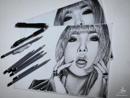 2NE1 Project 3/4 - Minzy [Side View] by SongYong