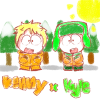 kenny x kyle by PinkZugar
