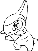 Axew Lineart