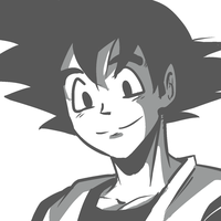 Goku- My style by The-Man-Called-G