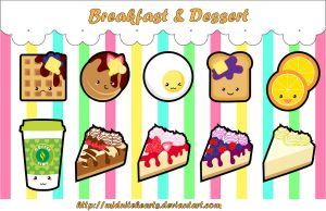 Breakfast and Dessert Charm Designs by MidniteHearts