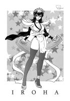 iroha in black and white by Shayeragal