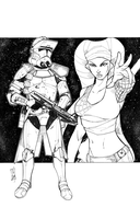 Commanders and Generals: Bly and Aayla Inked by Hodges-Art