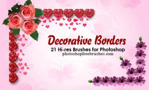 20 Decorative Borders PS Brush by fiftyfivepixels