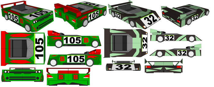 SketchUp - Boogerman's Car and Larcen Tyler's Car by TeamFaustGames