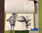 DoodleBook 129 - knight of clubs by doodler14