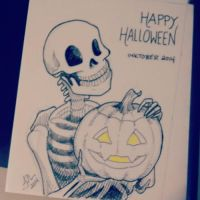 Inktober Day 31: Happy Halloween! by Jackie-M-Illustrator