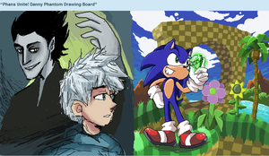 Pitch, Jack, Sonic and Green Hill by seantriana