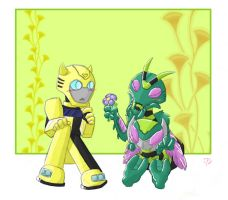 Waspinator x Bumblebee by crimson-nemesis