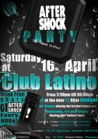 """AfterShock"" Party Flyer by DinoDsigns"
