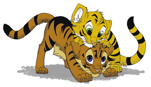 Two Colored Tigers for Bemgel by ArcticFoxKit