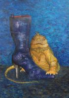 iguana with boot by imoart
