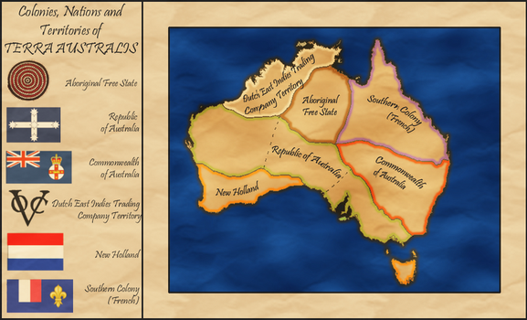 Australia Alt. History Map circa 1880 by whitetower-exe