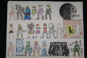 My Paper Dolls Art Project by The-End-Inc