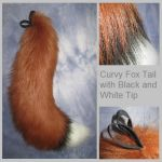 Curvy Fox Tail with Black and White Tip by Lascivus-Lutra