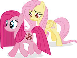 Pinkie and Fluttershy - WDA (When Demons Awake) by j5a4