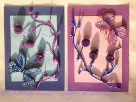 Quilled paper butterflies by papersbynena