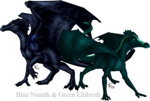 Pern Comm - Green Ellibreth and Blue Nimith Baby by Sobuharten