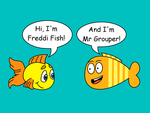 Freddi Fish meets Mr Grouper by dev-catscratch