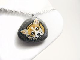 Corgi Pendant Necklace by sobeyondthis