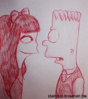 Bart and Jessica doodle by EdArtGeek