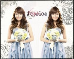 Jessica Ace Bed Smartphone Wallpaper by SNSDLoveSNSD