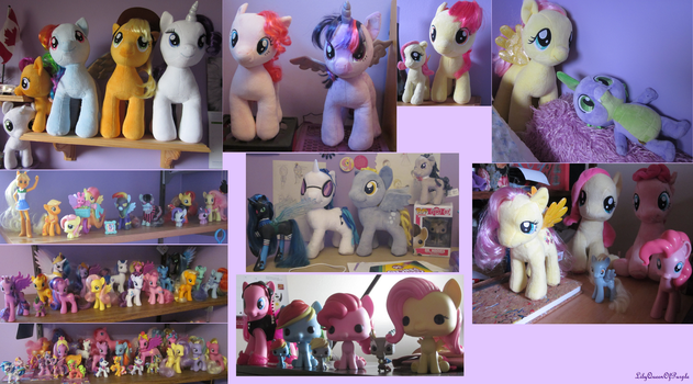 My MLP Collection as of July 2015 by Queen-Of-Purple
