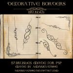 Decorative dividers PSP by AmarieVeanne-Stock