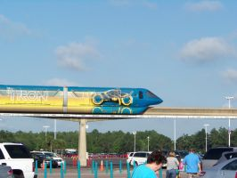 TRON Monorail at Disney by Dream-finder