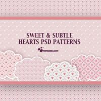 Free Hearts PSD Patterns by EdithThrashes