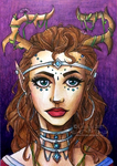 Portrait of an Elven Empress by Chrisily