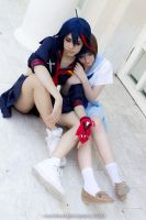 Mako and Ryuko // Kill La Kill 16 by XRavenheart