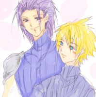 Zack and Cloud by Zairal
