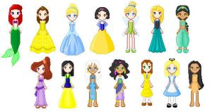 Disney's Women by Candied-Xandi