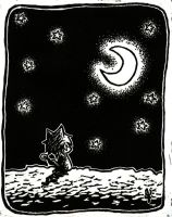 MEOWING TO THE MOON by Kittyyy