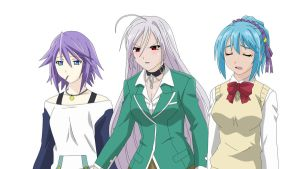 Mizore, Moka + Kurumu Reaction Vector by toms2435