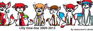 Lilly TimeLine 2009-2013 by roisincrowe11
