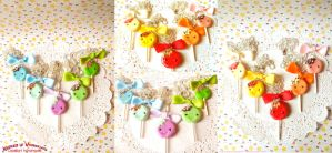 Cute lollipops - Polymer clay by Cupcakesarekawaii