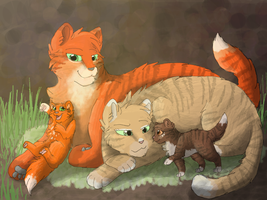 Firestar's Family by CascadingSerenity