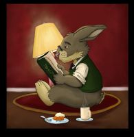 Reading Rabbit by UrsusArctos