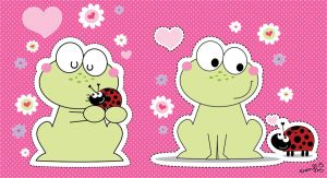 The Frog and a Lady-Bug by Frog-FrogBR
