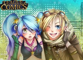 Sona and Ezreal LoL by Juudiia