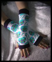 Springtime Fling Arm Warmers by ZenAndCoffee