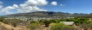 Koko Head Panorama by AmethystUnderwood