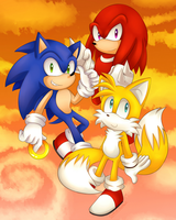 Team Sonic Heroes by SonicForTheWin2