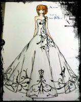 black and white ball gown by BethzAbonitz