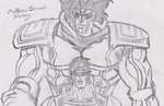 Star platinum and Jotaro by Matthias-D-Zerez