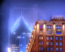 Old and new in the fog by spudart